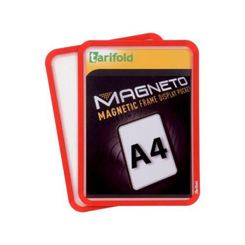 TARIFOLD Magnetische tasche a4, 2 stk., rot