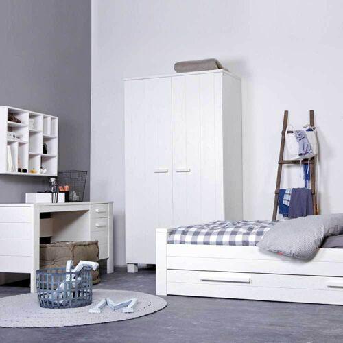 Massiver Kleiderschrank in Weiß 110 cm
