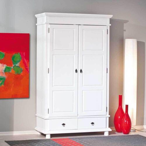 Kiefer Kleiderschrank in Weiß Landhausstil