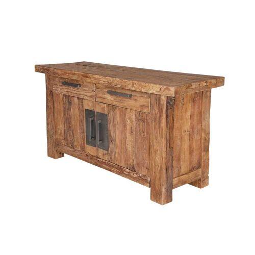 Sideboard aus Teak Massivholz Landhaus rustikal