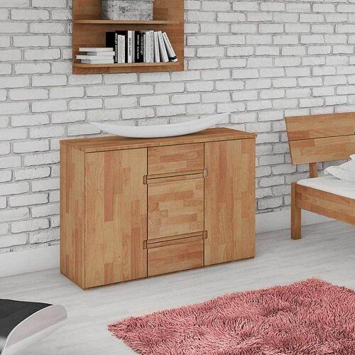Schlafzimmer Kommode aus Buche Massivholz 110 cm