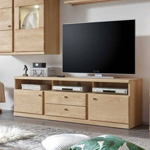 TV Board aus Wildeiche Bianco geölt 170 cm