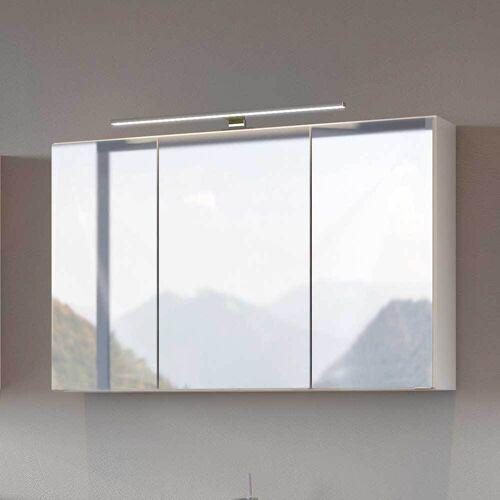 Badezimmer Spiegelschrank in Weiß LED Beleuchtung