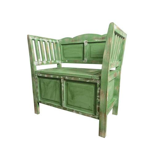 Sitzbank in Grün Shabby Chic