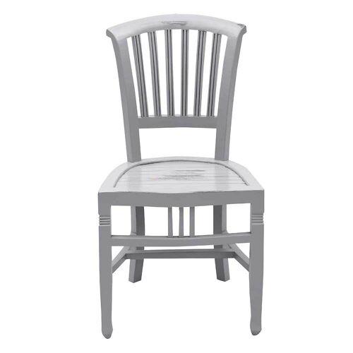 Stuhl aus Akazie Massivholz Shabby Chic