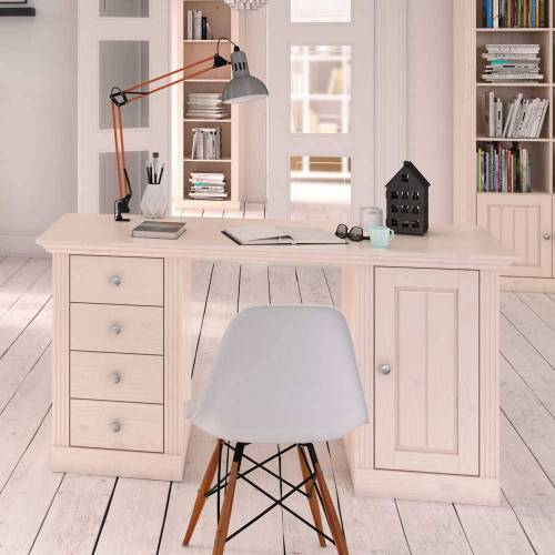 Schreibtisch in Weiß Skandinavischer Landhausstil
