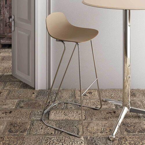 Küchenstuhl für Küchenarbeitsplatte Beige