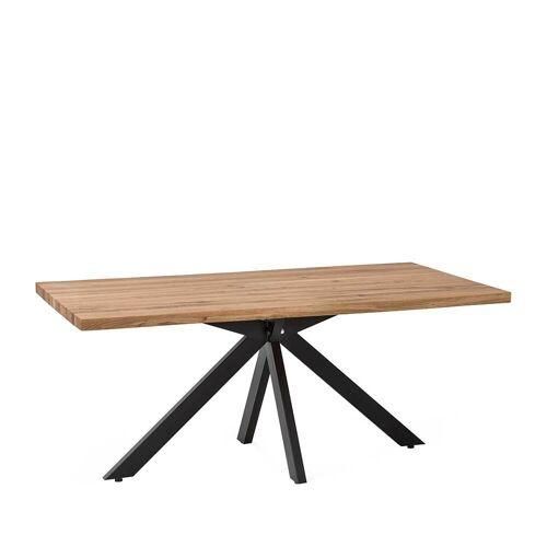 Küchentisch aus Eiche Massivholz und Metall modern