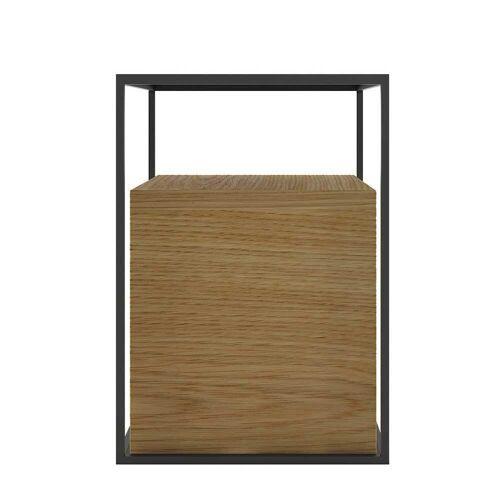 Couch Beistelltisch quadratisch Eiche furniert