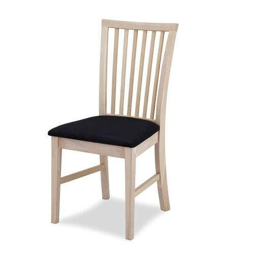 Holzstühle in Eiche hell gepolsterter Sitzfläche (2er Set)