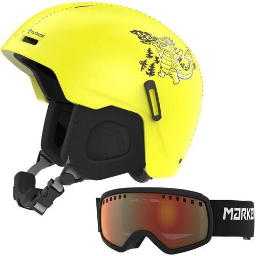 Marker Bino Yellow Set - Kinderhelm inkl. Skibrille