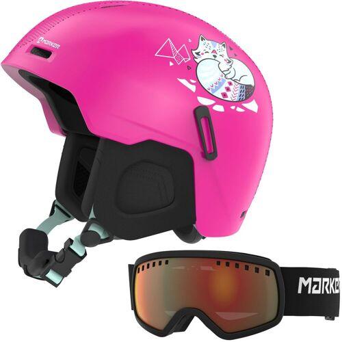 Marker Bino Pink Set - Kinderhelm inkl. Skibrille