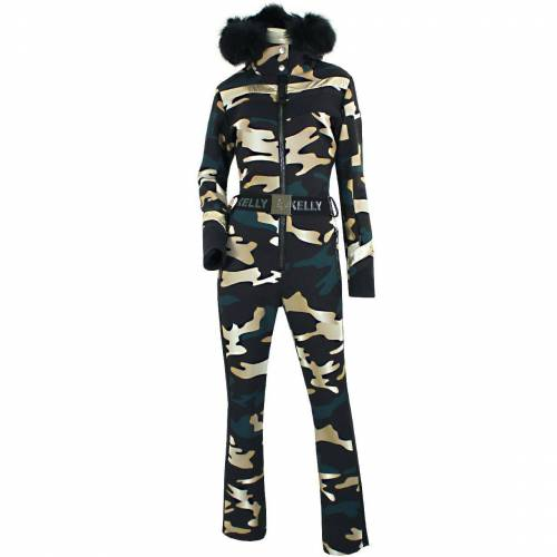 High Society / Kelly Kelly Women Jumpsuit CAROL FUR black camouflage