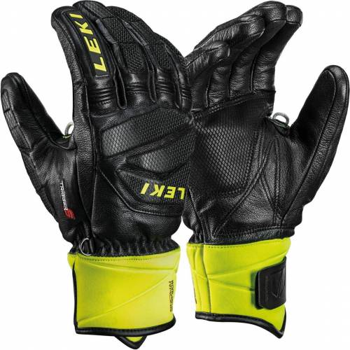 Leki Men Glove RACE DOWNHILL S black/ice lemon