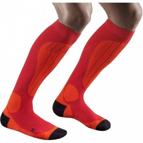 CEP Men Ski Socks Thermo cranberry/orange