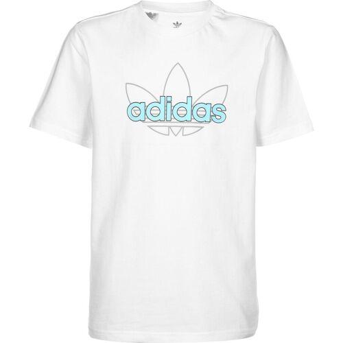 Adidas T-Shirt Kinder, Gr. 128, Kinder, weiß