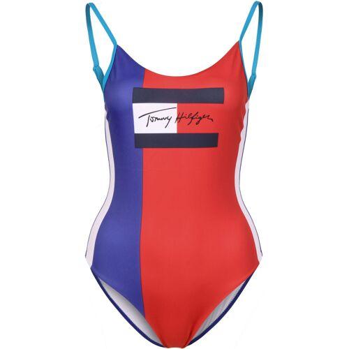 Tommy Hilfiger Badeanzug, XS, Damen rot blau