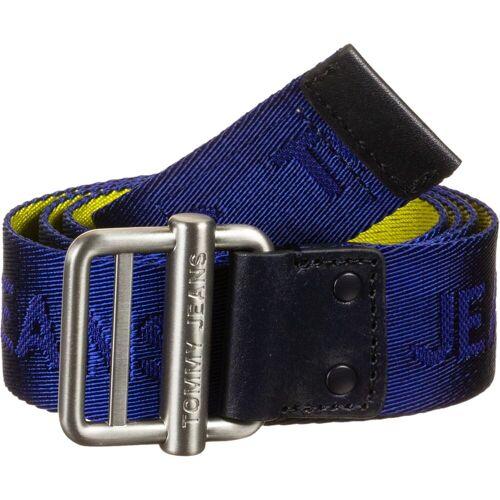 Tommy Jeans Logo Webbing 3.5, Gr. 95 cm, Herren, blau gelb