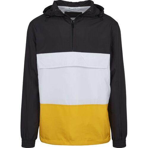 Urban Classics Color Block Pullover, Herren, schwarz weiß gelb
