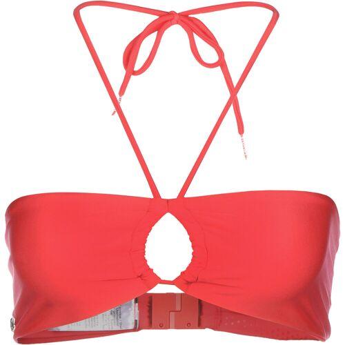Lacoste Bikini Oberteil, Gr. XS, Damen, rot