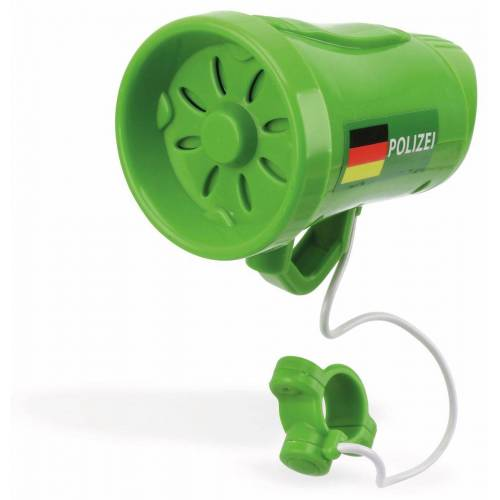 Fahrrad Sirene Polizei, 3 Sounds, grün