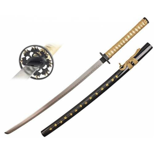 GT-DEKO - Fantasy und Schwert Shop Katana Marihuana gold