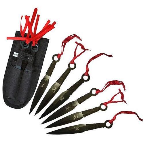 GT-DEKO - Fantasy und Schwert Shop Kunai 6er Set - Drachen Wurfmesser