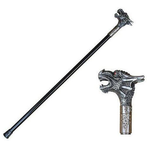 GT-DEKO - Fantasy und Schwert Shop Gehstock mit Drachenkopf