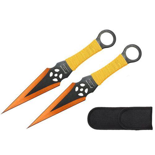 GT-DEKO - Fantasy und Schwert Shop Wurfmesser Zombi Kunai 2er Set