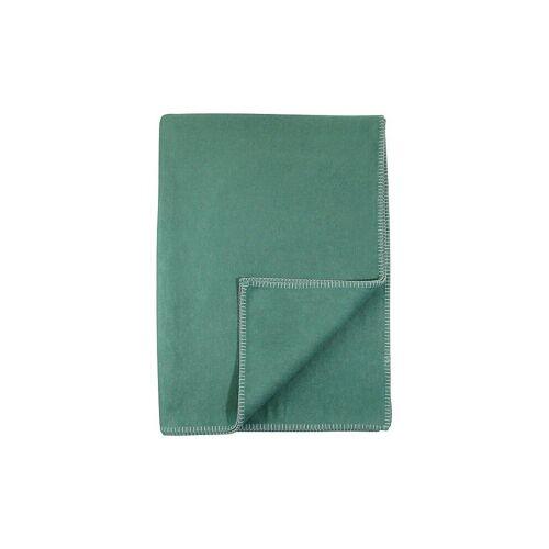"David Fussenegger Tagesdecke - Plaid ""Sylt"" (flaschengrün) grün   3102/53"