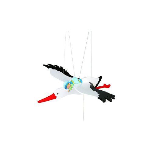 GOKI Schwingtier Storch mit Baby