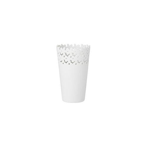RAEDER Vase Weisheiten 18cm weiß
