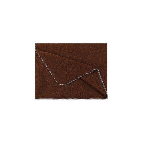 STEINER 1888 Wolldecke - Plaid Alina 150x190cm Bronze braun