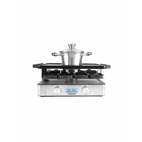 GASTROBACK Design Raclette Fondue Advanced Plus 42562 silber