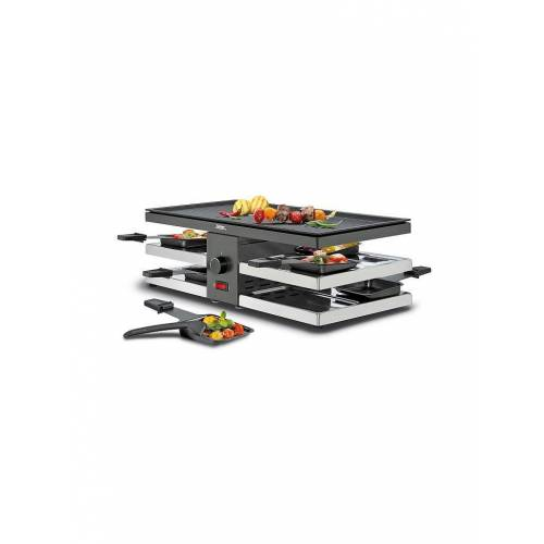 SPRING Raclette Fun mit Alugrillplatte schwarz
