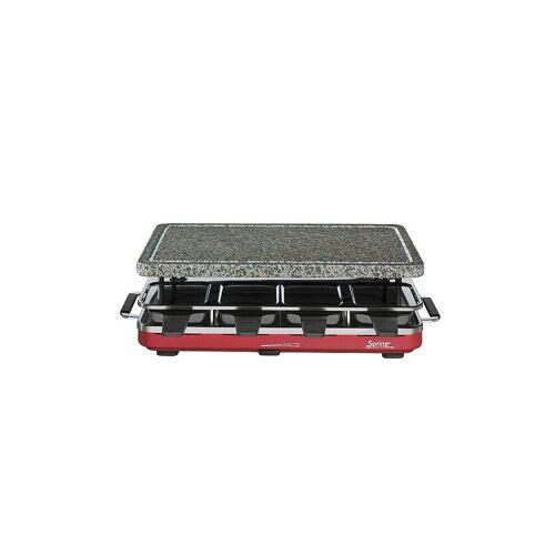 SPRING Spring - Raclette 8 mit Granitstein (Rot) rot