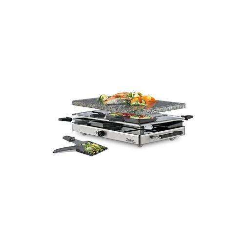 SPRING Raclette8 mit Granitstein (Edelstahl) silber   32 6741 00 01