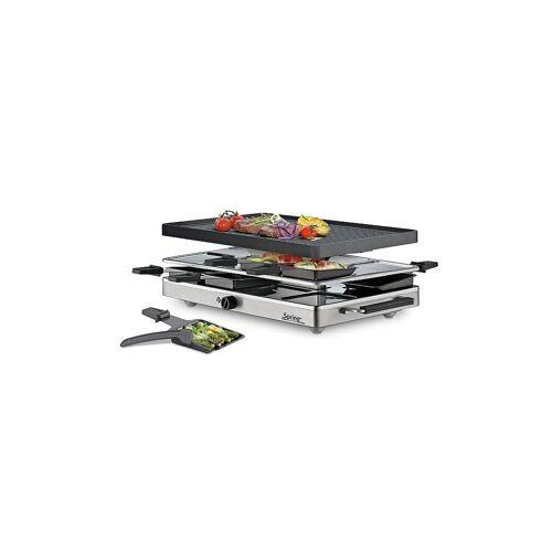 SPRING Raclette8 CLASSIC Alu-Grillplatte schwarz   32 6731 00 01
