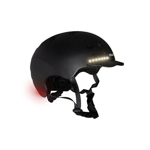 HUDORA Skaterhelm LED, schwarz Größe M