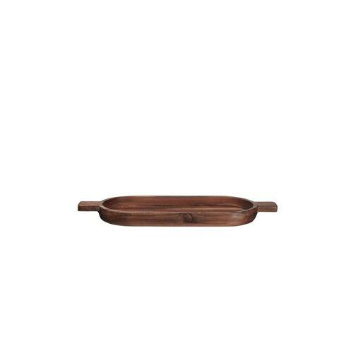 ASA Brett oval Wood 49,6 x 18cm (Akazie Massiv) braun