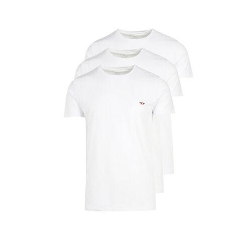 Diesel T-Shirt 3-er Pkg. weiß   L