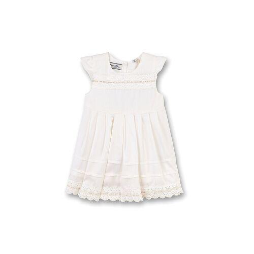 SANETTA Mädchen-Babykleid weiß   86