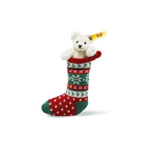 STEIFF Mini Teddybär in Socke weiss 8cm