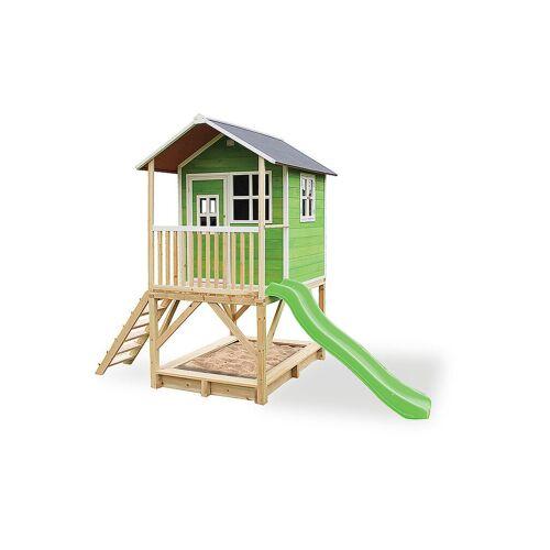 EXIT TOYS Loft 500 Holzspielhaus - grün
