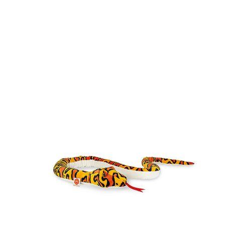 HERMANN TEDDY Plüschtier - Schlange orange/gelb gemustert 175cm