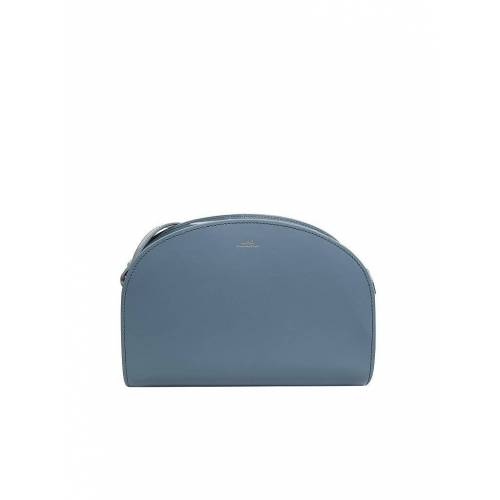 A.P.C. Ledertasche - Umhängetasche blau