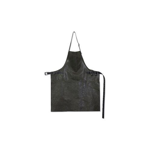 DUTCH DE LUXE Lederschürze BBQ Style Vintage Grau grau