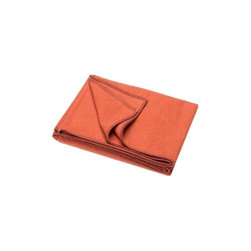 David Fussenegger Tagesdecke - Plaid Sylt 140x200cm (Terracotta) orange