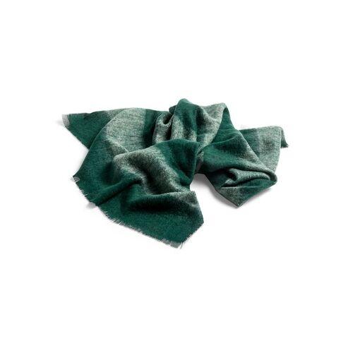 HAY Mohair-Wolldecke grün
