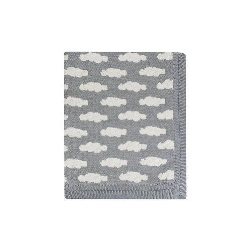STERNTALER Baby-Strickdecke - Plaid   Wolken grau